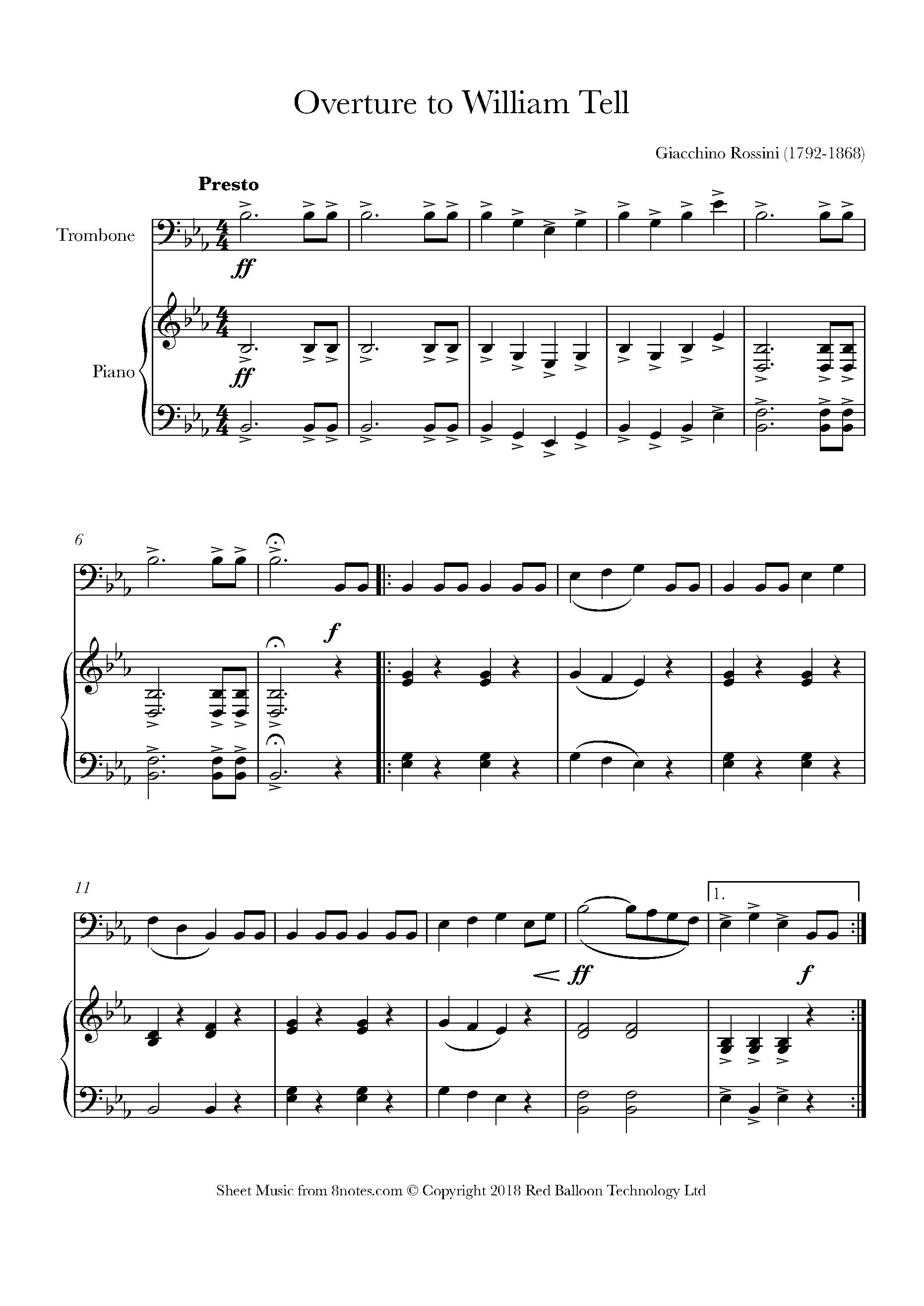 Trombone Christmas Sheet Music Free Printable – Festival Collections - Trombone Christmas Sheet Music Free Printable