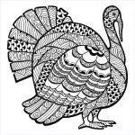 Turkey Zentangle Coloring Sheet   Thanksgiving Adult Coloring Pages   Free Printable Thanksgiving Coloring Pages