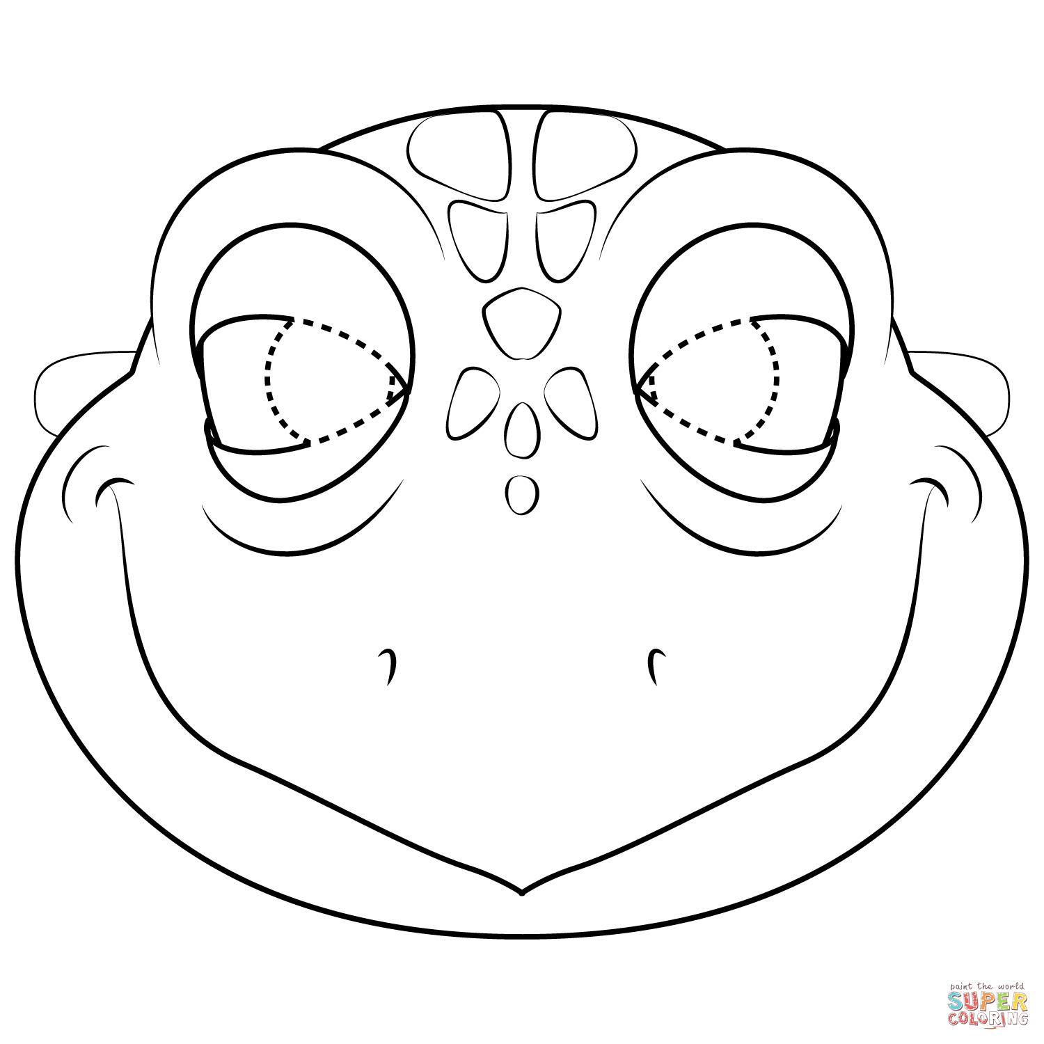 Turtle Mask Coloring Page   Free Printable Coloring Pages - Free Printable Lizard Mask