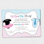 Tutus Or Ties, Gender Reveal Baby Shower Party Invitations, Pink And   Free Printable Gender Reveal Invitations