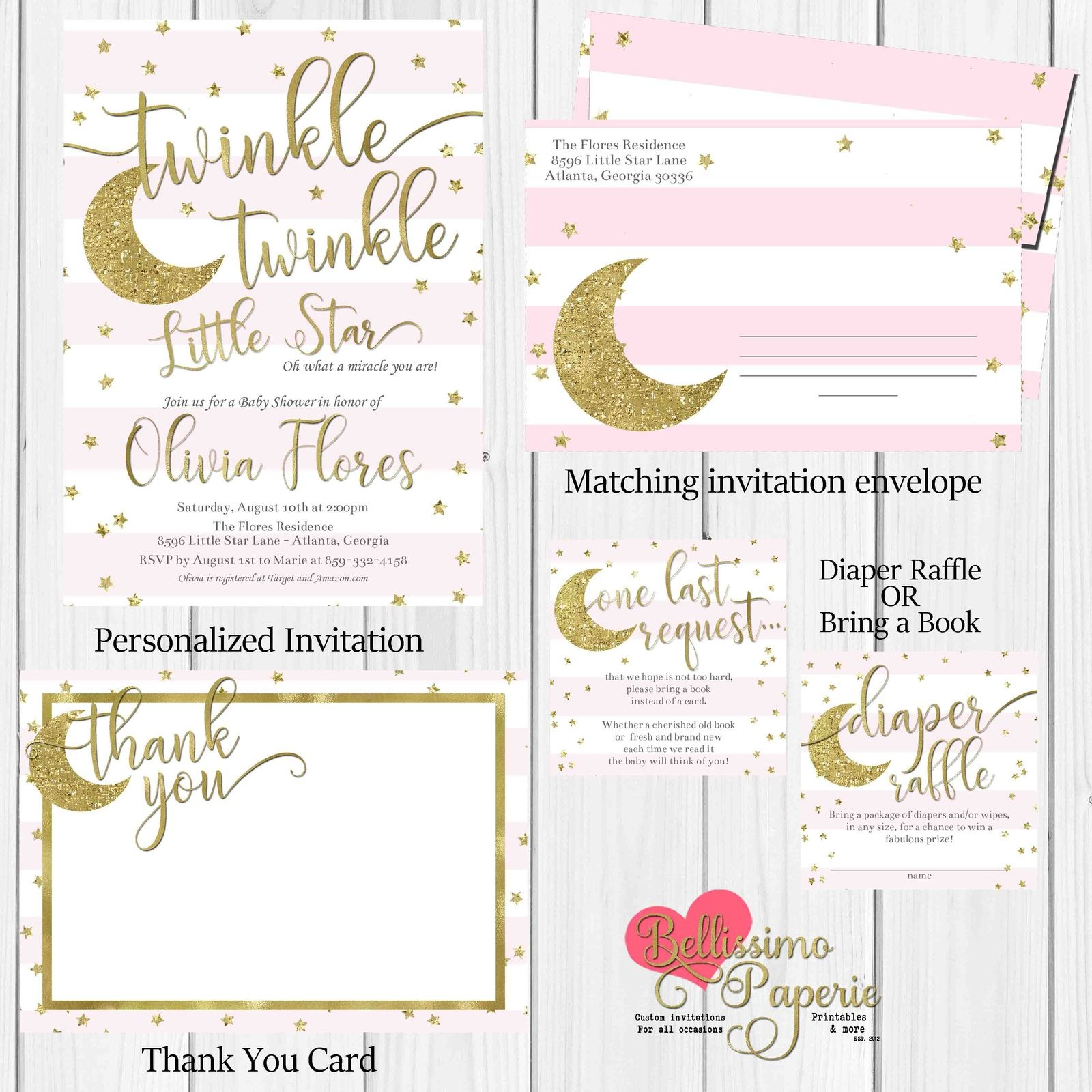 Twinkle Twinkle Little Star Baby Shower And 50 Similar Items - Free Printable Twinkle Twinkle Little Star Baby Shower Invitations