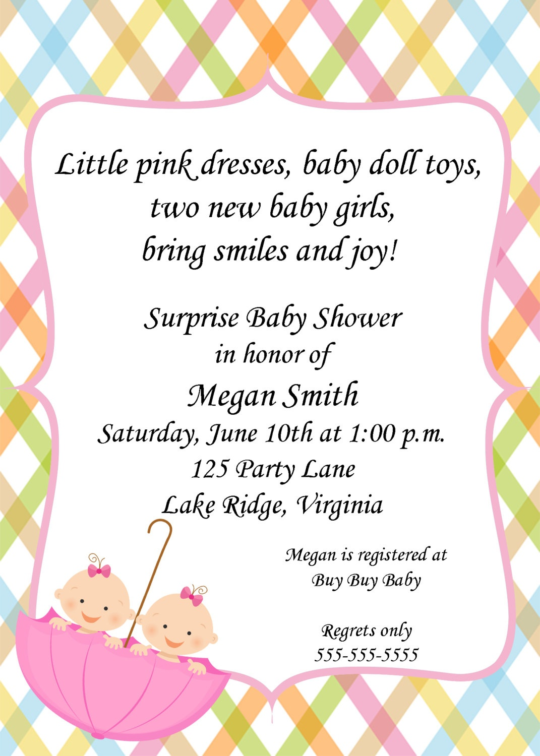 Twins Baby Shower Invitations Templates Twin Girl Baby Shower - Create Your Own Baby Shower Invitations Free Printable