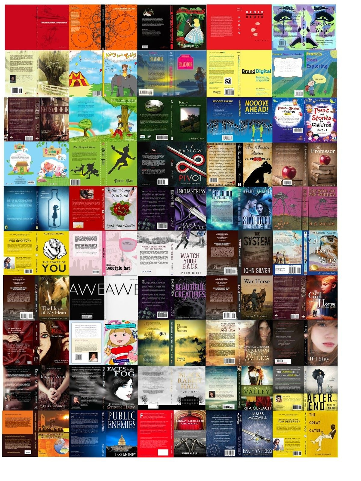 Ucreate: 50 Doll Book Covers - Printable | Dollhouse | Dolls, Doll - Free Printable Miniature Book Covers