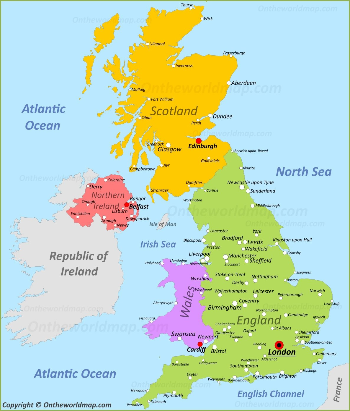 Uk Maps | Maps Of United Kingdom - Free Printable Map Of Uk And Ireland