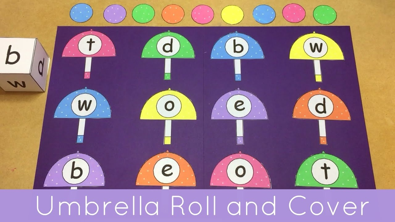 Umbrella Roll And Cover File Folder Game For Preschool And - Free Printable Math File Folder Games For Preschoolers