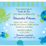Under The Sea Baby Shower Invitations Free Templates | Invitations   Free Printable Turtle Baby Shower Invitations