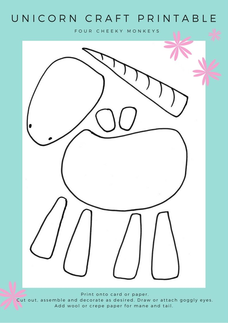 Unicorn Craft Activity: Flower Crown And Free Printables | Crafts - Free Printable Craft Activities