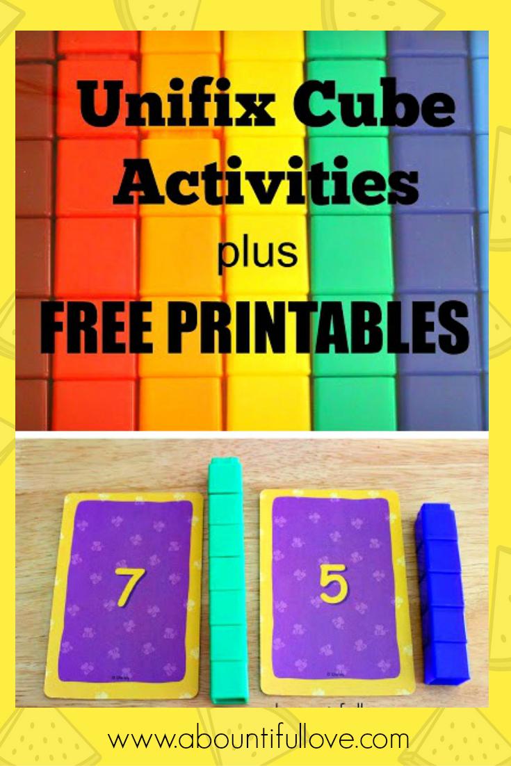 Unifix Cubes Activities Plus Free Printables | Snap Cards - Free Printable Snap Cards