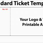 Unique Create Your Own Tickets Template Free | Best Of Template   Create Tickets Free Printable
