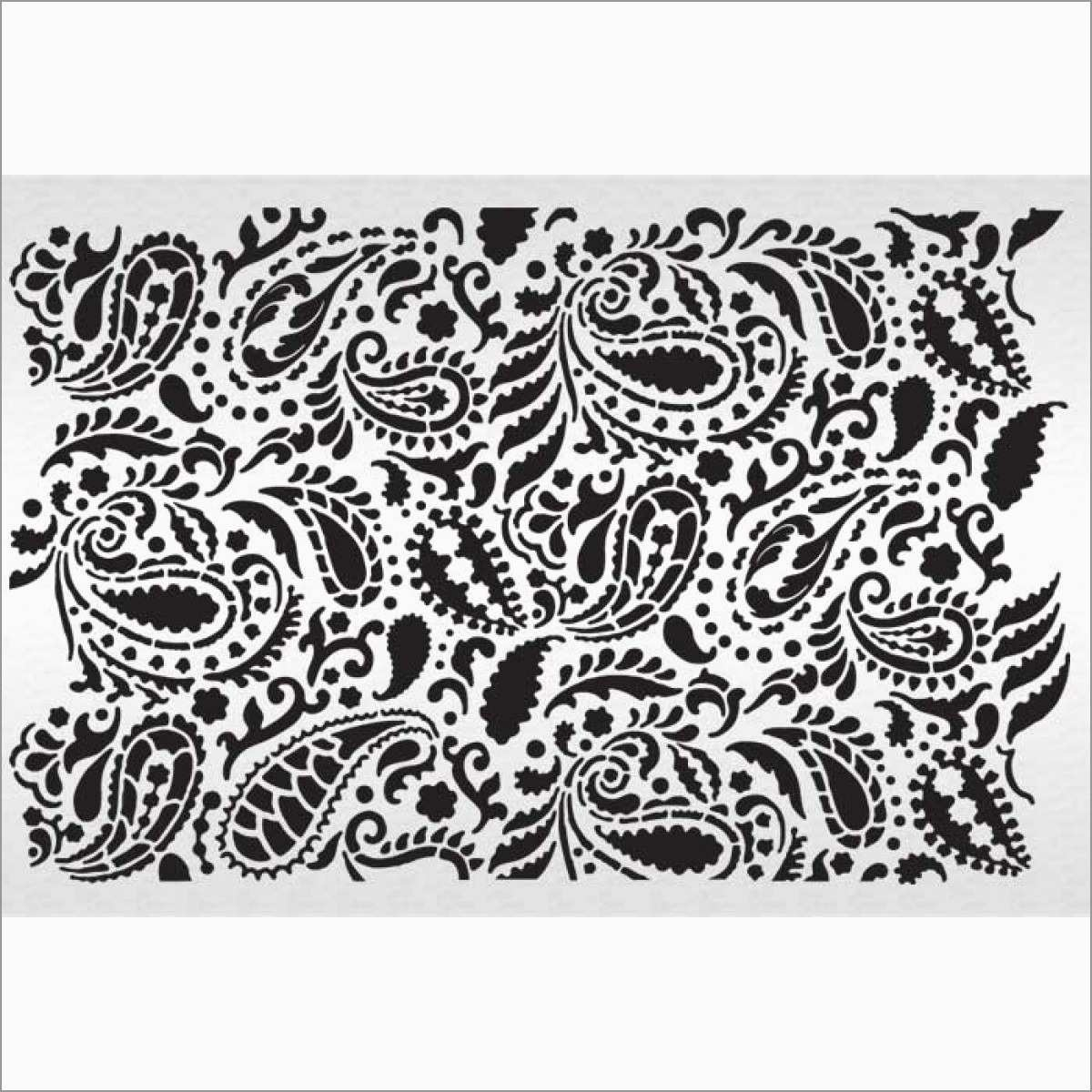 Unique Paisley Stencil Templates Free | Best Of Template - Free Printable Lace Stencil