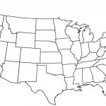 United States Map Blank Outline Fresh Free Printable Us With Cities   Free Printable Map Of The United States