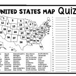 United States Map Quiz & Worksheet: Usa Map Test With Practice   Free Printable States And Capitals Worksheets