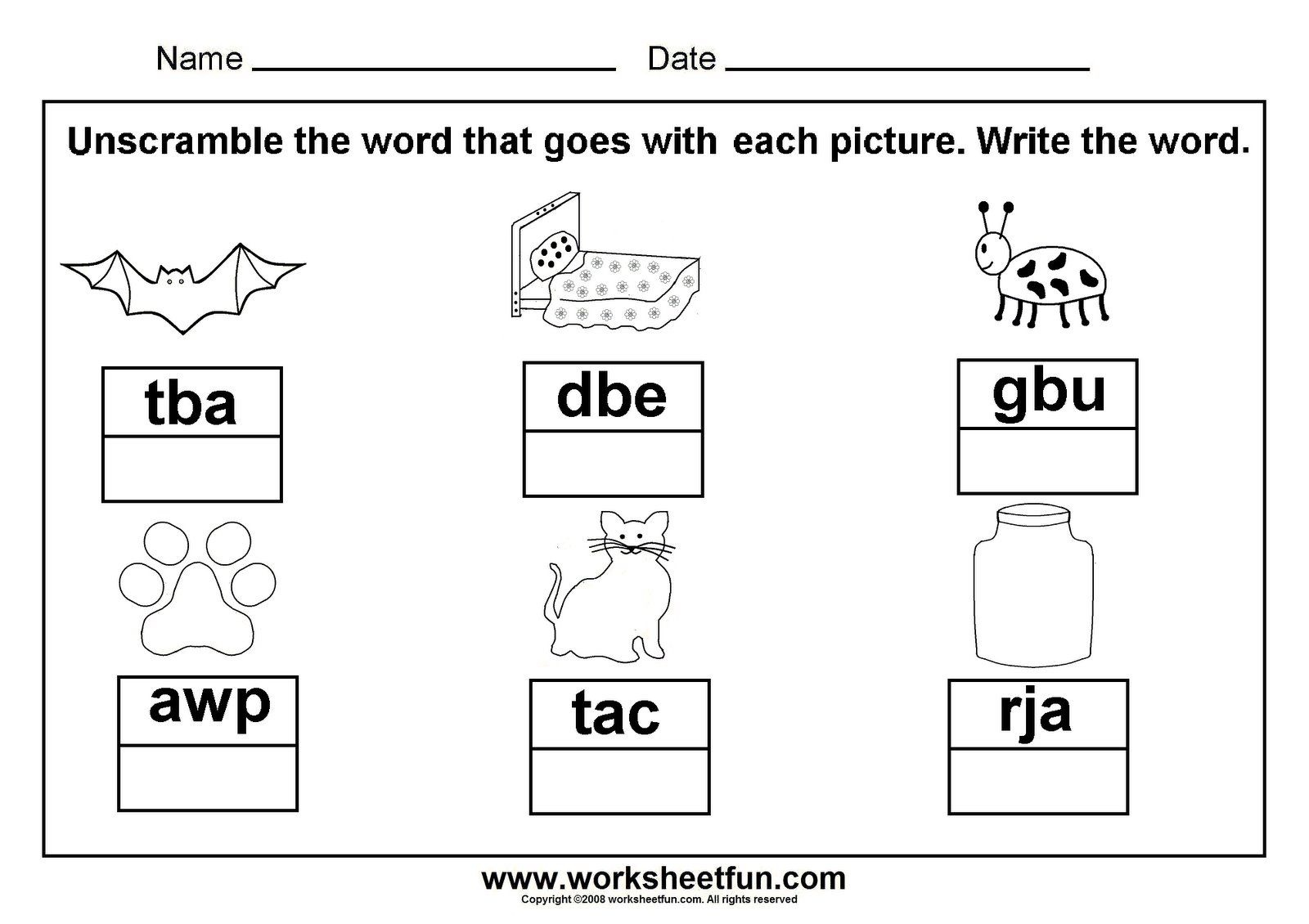Unscramble Cvc Words; Great To Laminate And Put In A Word Work - Cvc Words Worksheets Free Printable
