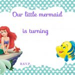 Updated! Free Printable Ariel The Little Mermaid Invitation Template   Free Little Mermaid Printable Invitations