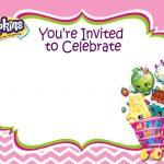 Updated   Free Printable Shopkins Birthday Invitation   Free   Free Printable Shopkins Invitations