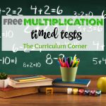 Updated* Multiplication Timed Tests   The Curriculum Corner 123   Free Printable Multiplication Timed Tests