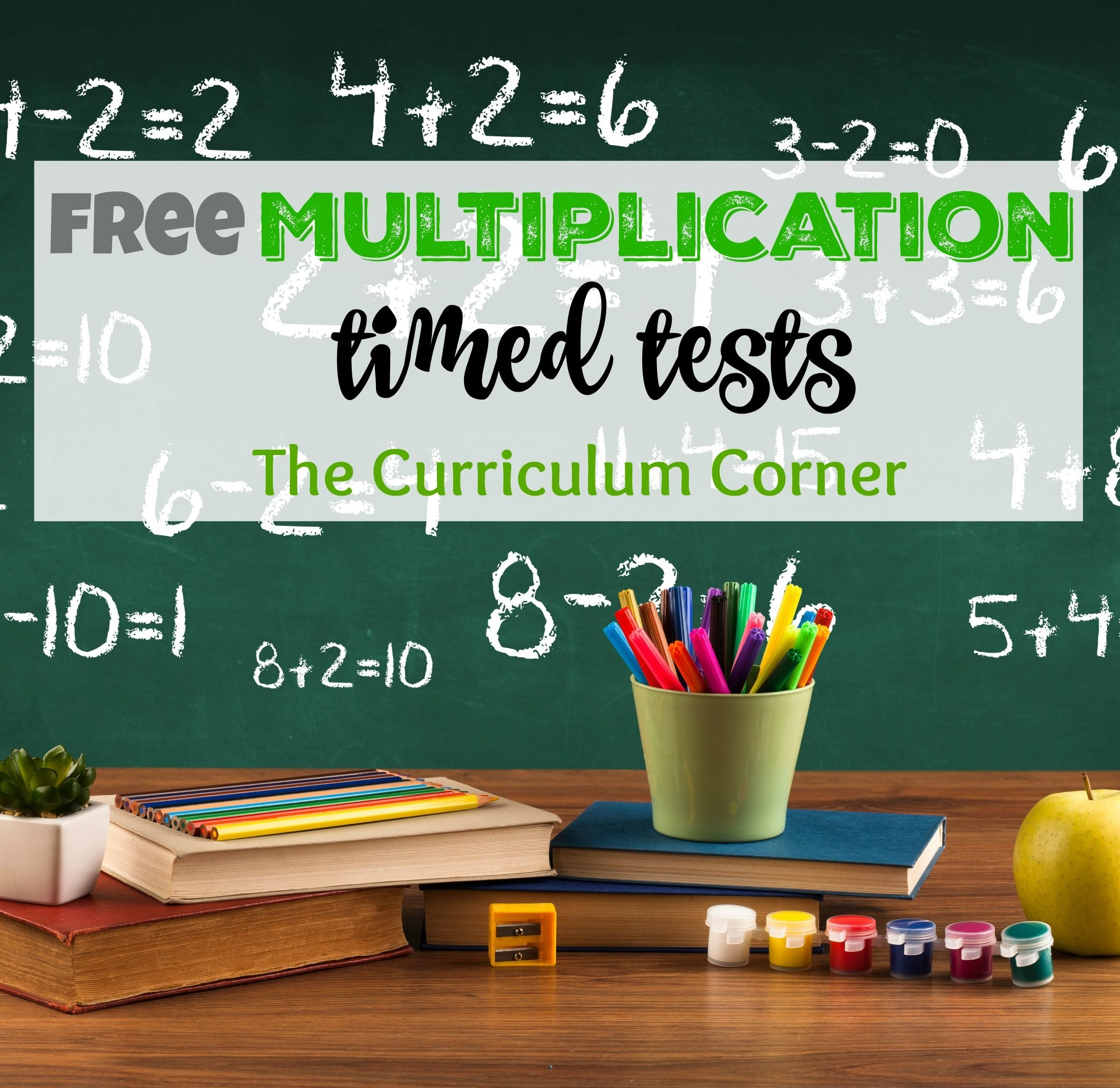 Updated* Multiplication Timed Tests - The Curriculum Corner 123 - Free Printable Multiplication Timed Tests