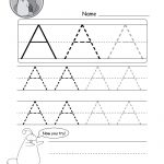 Uppercase Letter Tracing Worksheets (Free Printables)   Doozy Moo   Free Printable Name Tracing