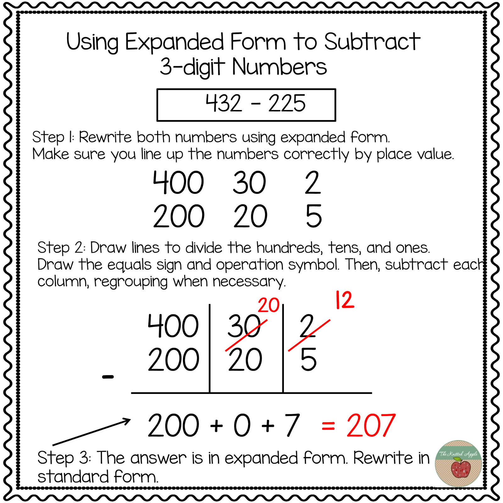 Using Expanded Notation To Regroup   Math   Expanded Notation - Free Printable Expanded Notation Worksheets