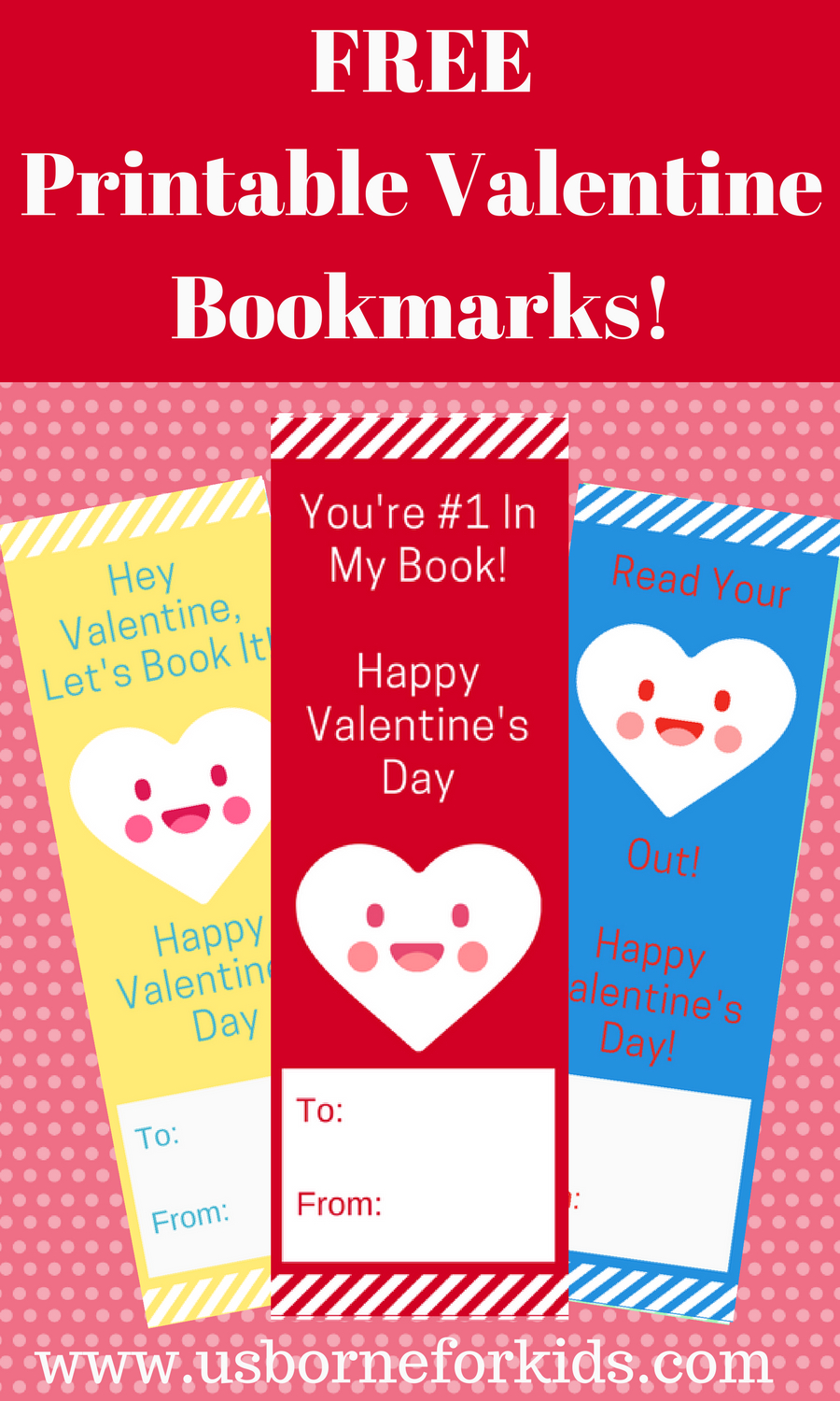 Valentine Bookmarks For Your Child's Class! Mix And Match 6 - Free Printable Valentine Bookmarks