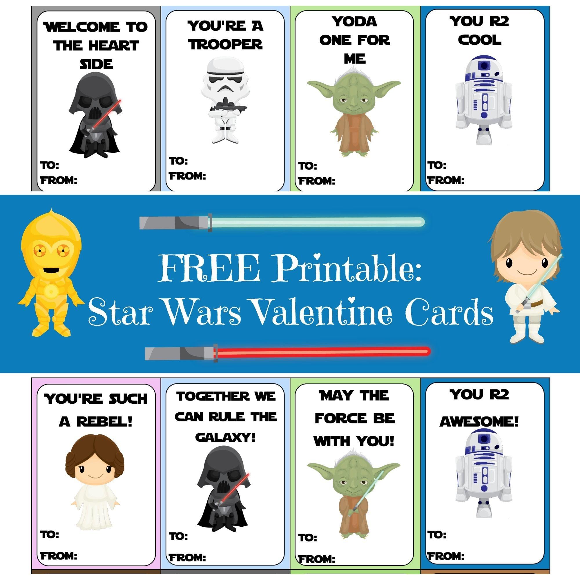 Valentine Card Round-Up | Printables | Starwars Valentines Cards - Free Printable Lego Star Wars Valentines