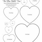 Valentine Heart Printable Clipart | Valentine | Heart Template   Free Printable Hearts