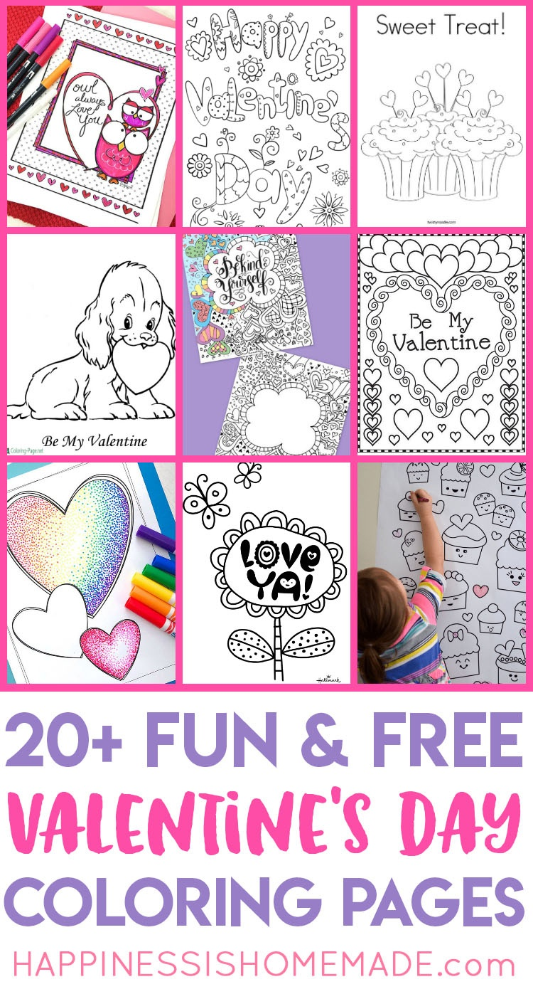 Valentines Coloring Pages - Happiness Is Homemade - Free Printable Valentine Books