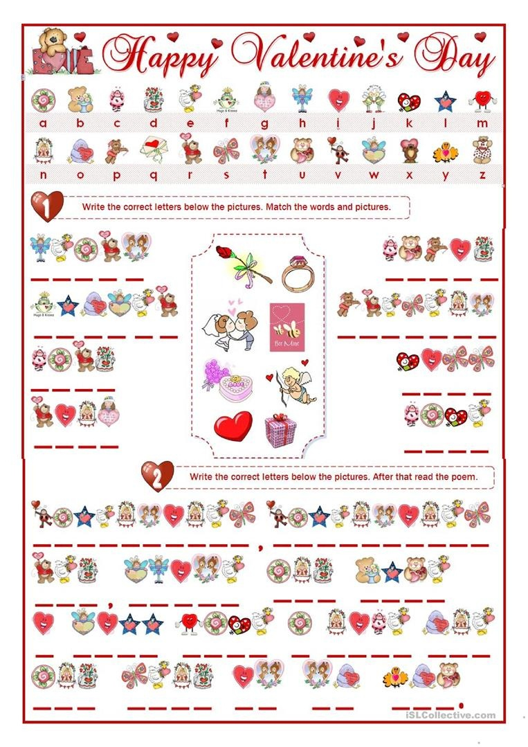 Valentine's Day Cryptogram Worksheet - Free Esl Printable Worksheets - Free Printable Cryptograms