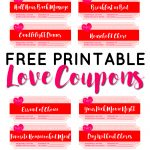 Valentine's Day Free Printable Love Coupons   Sparkles Of Sunshine   Free Printable Love Coupons