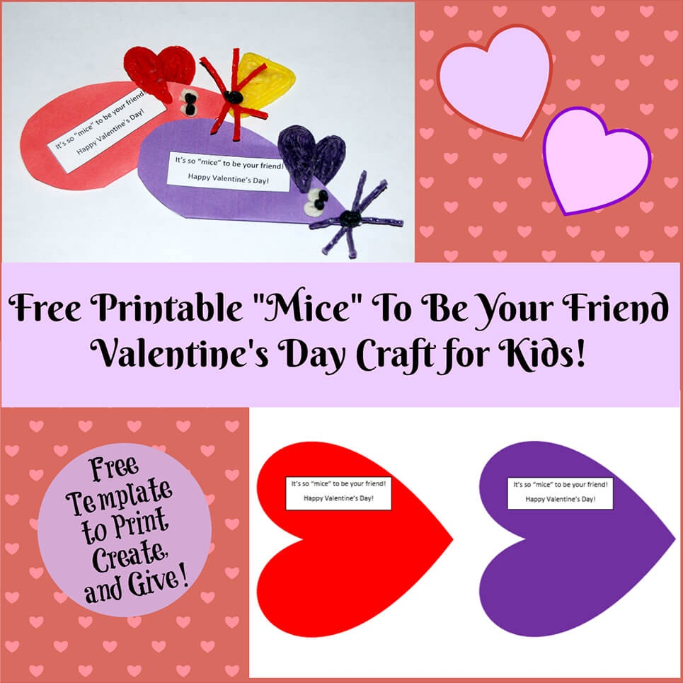 Valentine's Day Printable Card Crafts For Kids To Create!   Wikki Stix - Free Printable Valentines Day Cards Kids