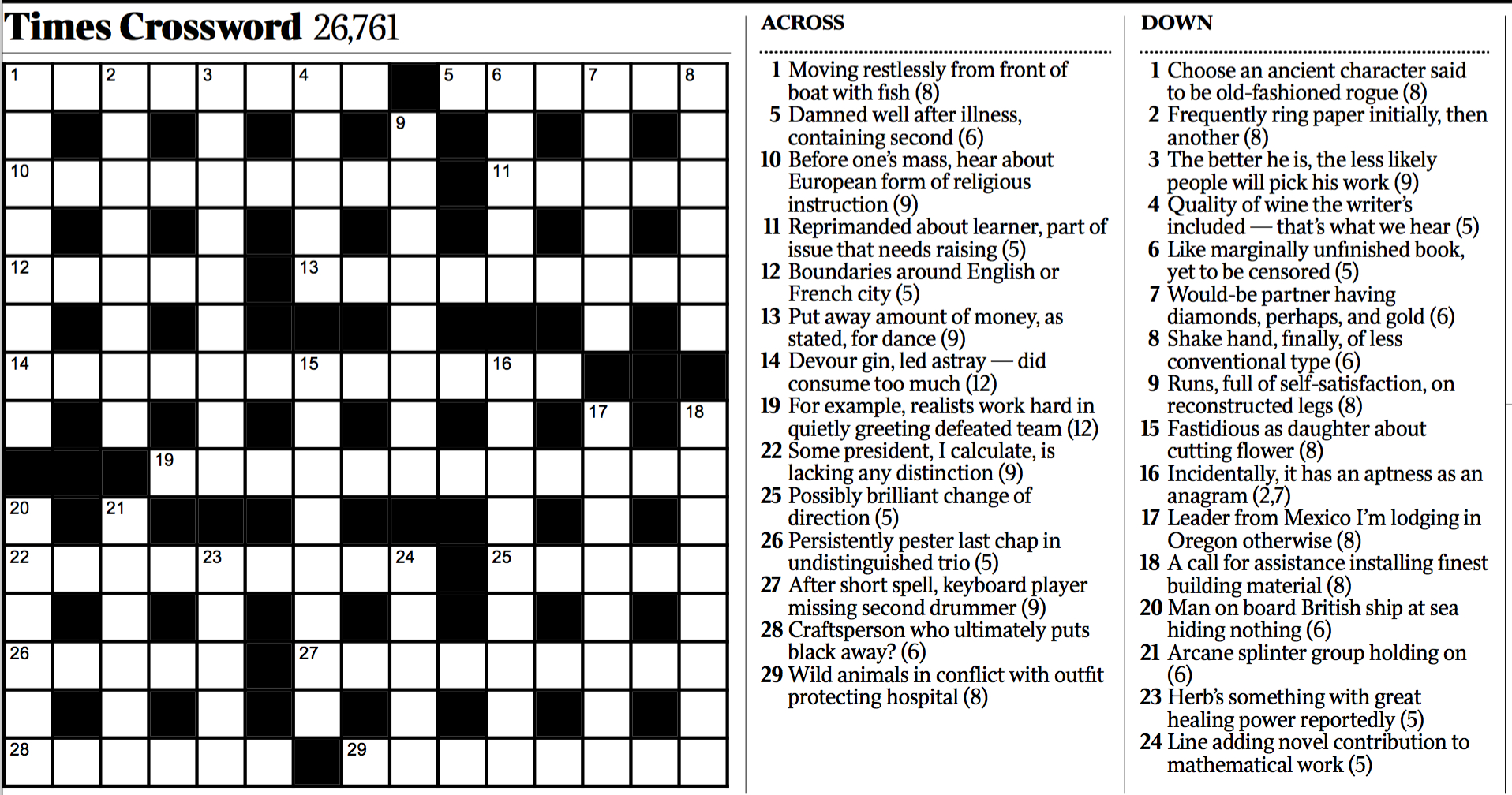 Variety: Cryptic Crossword - The New York Times - Free Printable Ny Times Crossword Puzzles