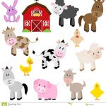 Vector Collection Of Cute Cartoon Farm Animals   Download From Over   Free Printable Farm Animal Cutouts