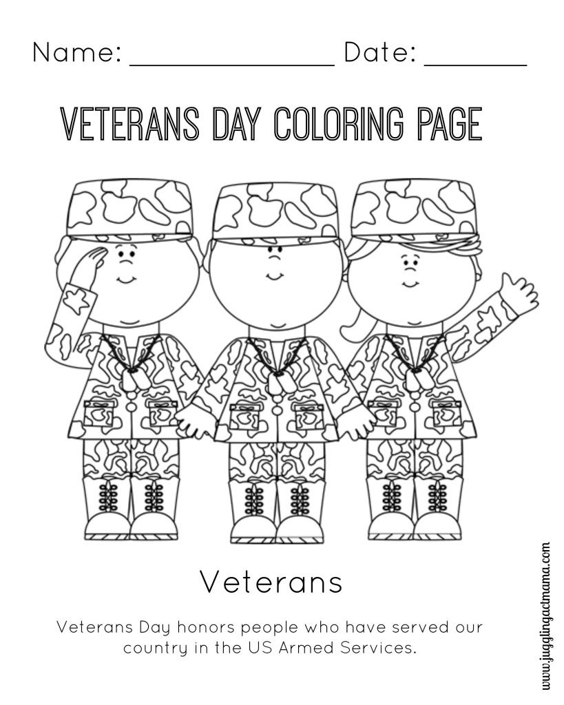 Veteran's Day Printable Coloring Page | Coloring Pages | Veterans - Veterans Day Free Printable Cards