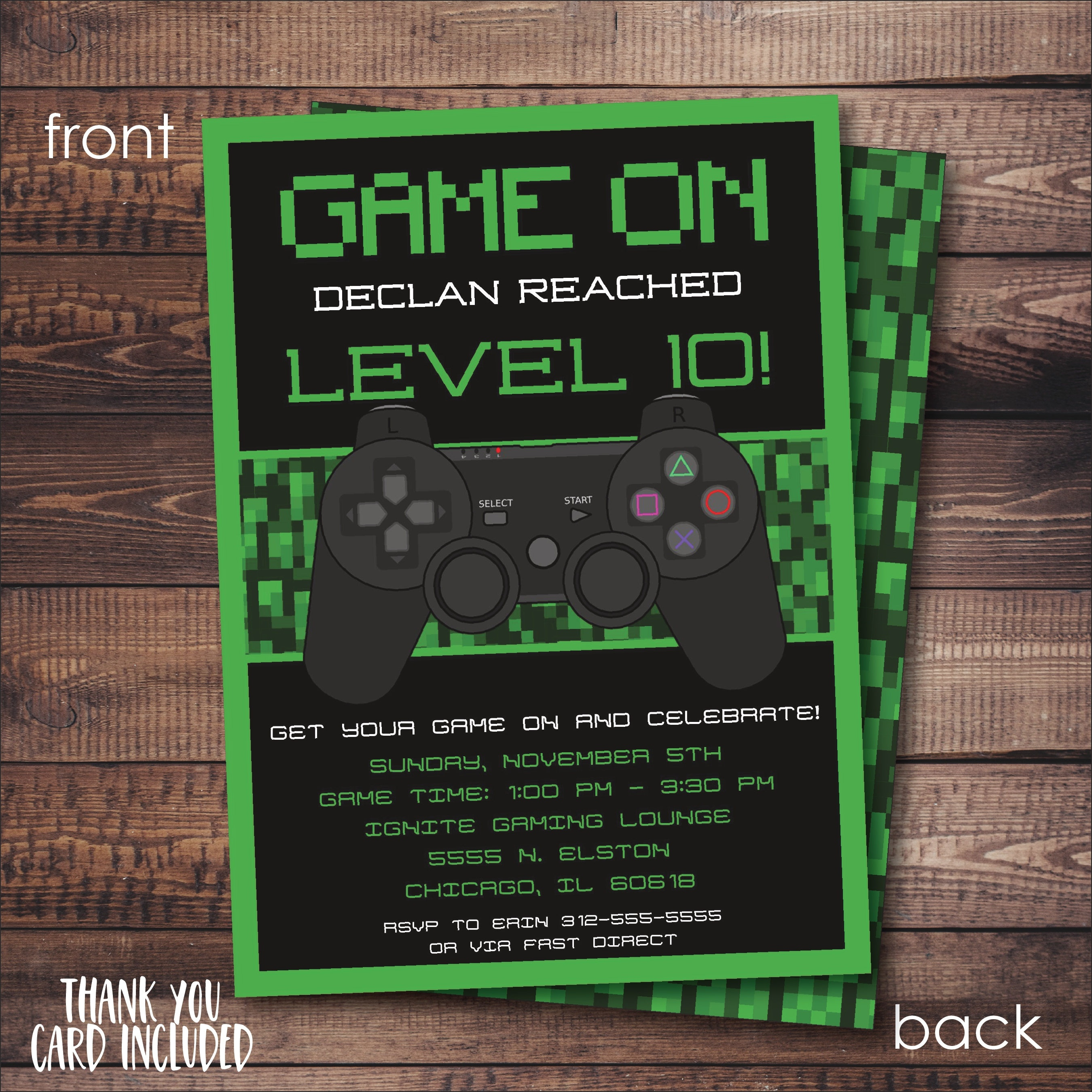 Video Game Invitation Free Thank You Card File Game Truck | Etsy - Free Printable Video Game Party Invitations