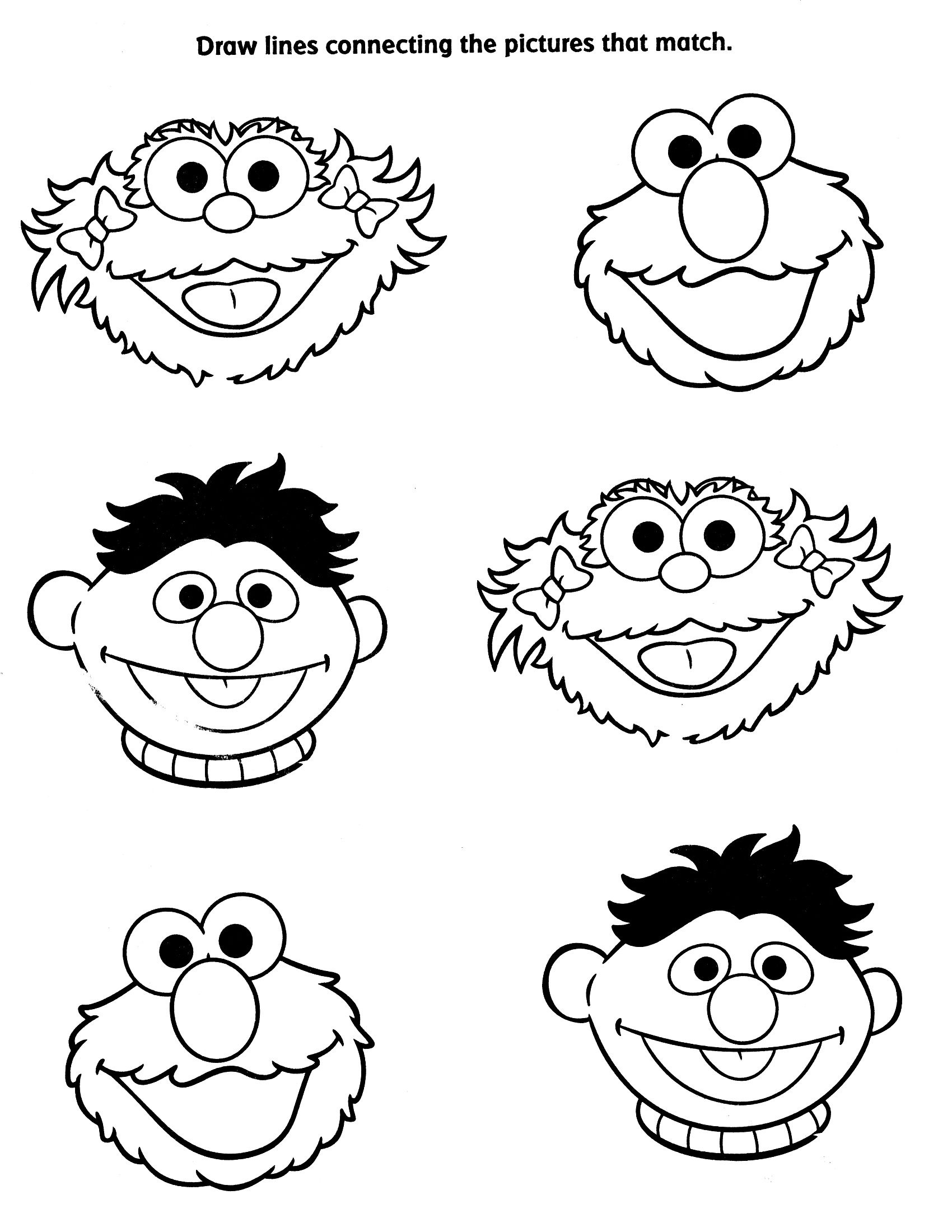 Free Printable Coloring Pages Sesame Street Characters ...