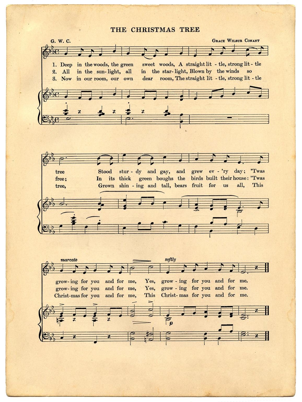 Vintage Christmas Sheet Music Printable - The Graphics Fairy - Free Printable Sheet Music