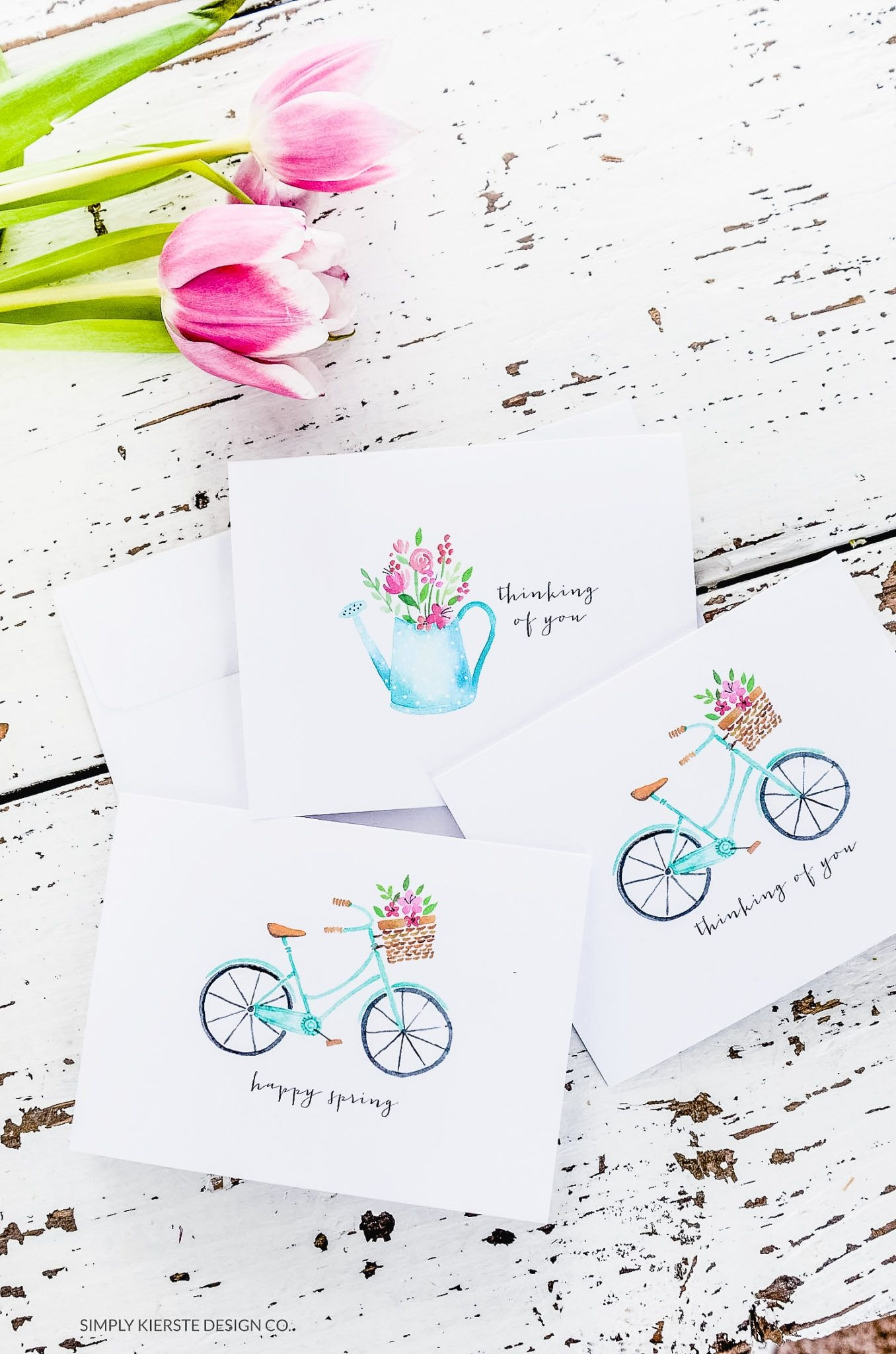 Vintage Style Spring Notecards & Stationery | Free Printables | Free - Free Printable Spring Stationery