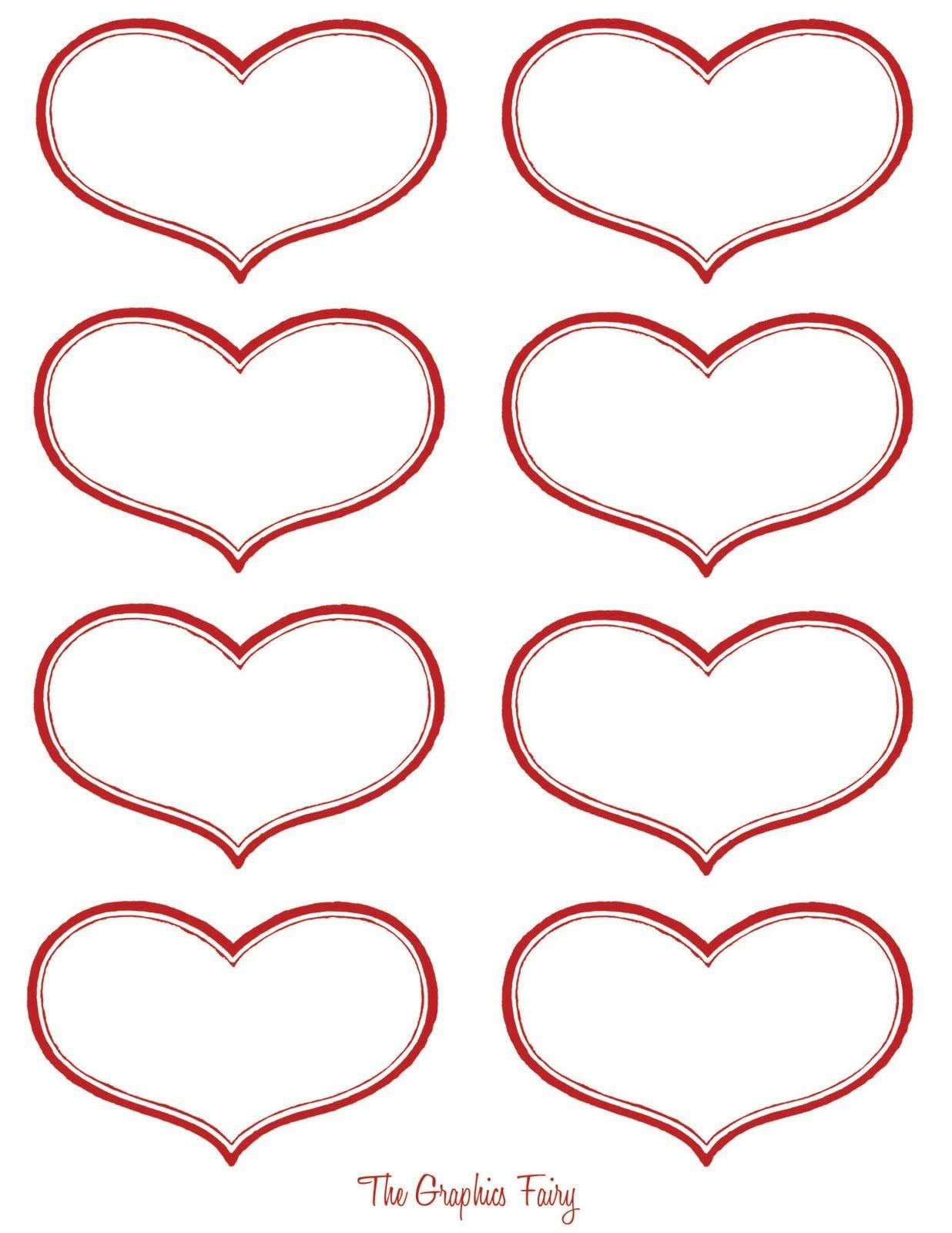 Vintage Valentine Printable - Antique Heart Labels   Diy Ideas - Free Printable Heart Labels