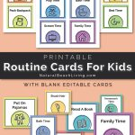 Visual Schedule   Free Printable Routine Cards   Natural Beach Living   Free Printable Schedule Cards