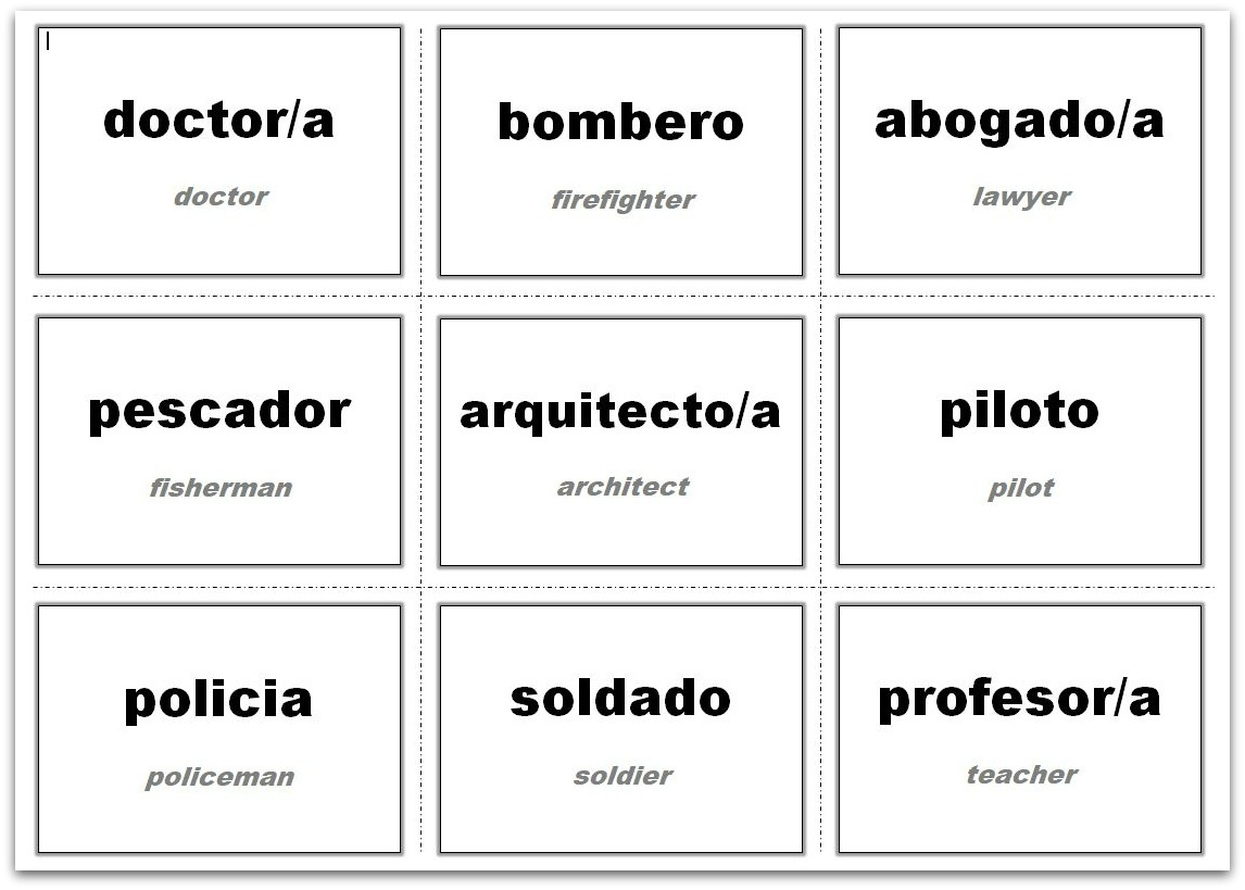 Vocabulary Flash Cards Using Ms Word - Free Printable Vocabulary Flashcards