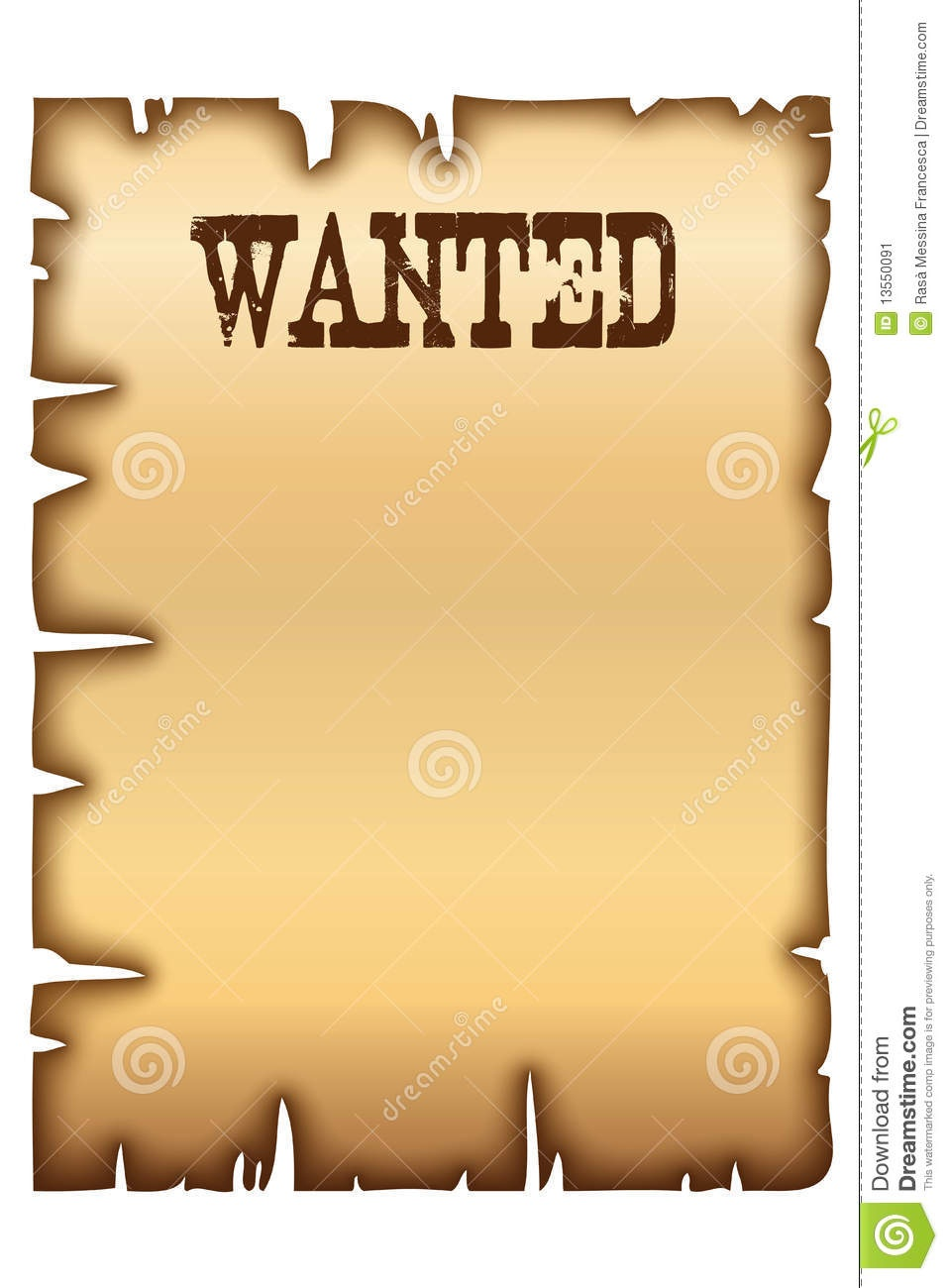 Wanted Poster Stock Vector. Illustration Of Edge, Antique - 13550091 - Wanted Poster Printable Free