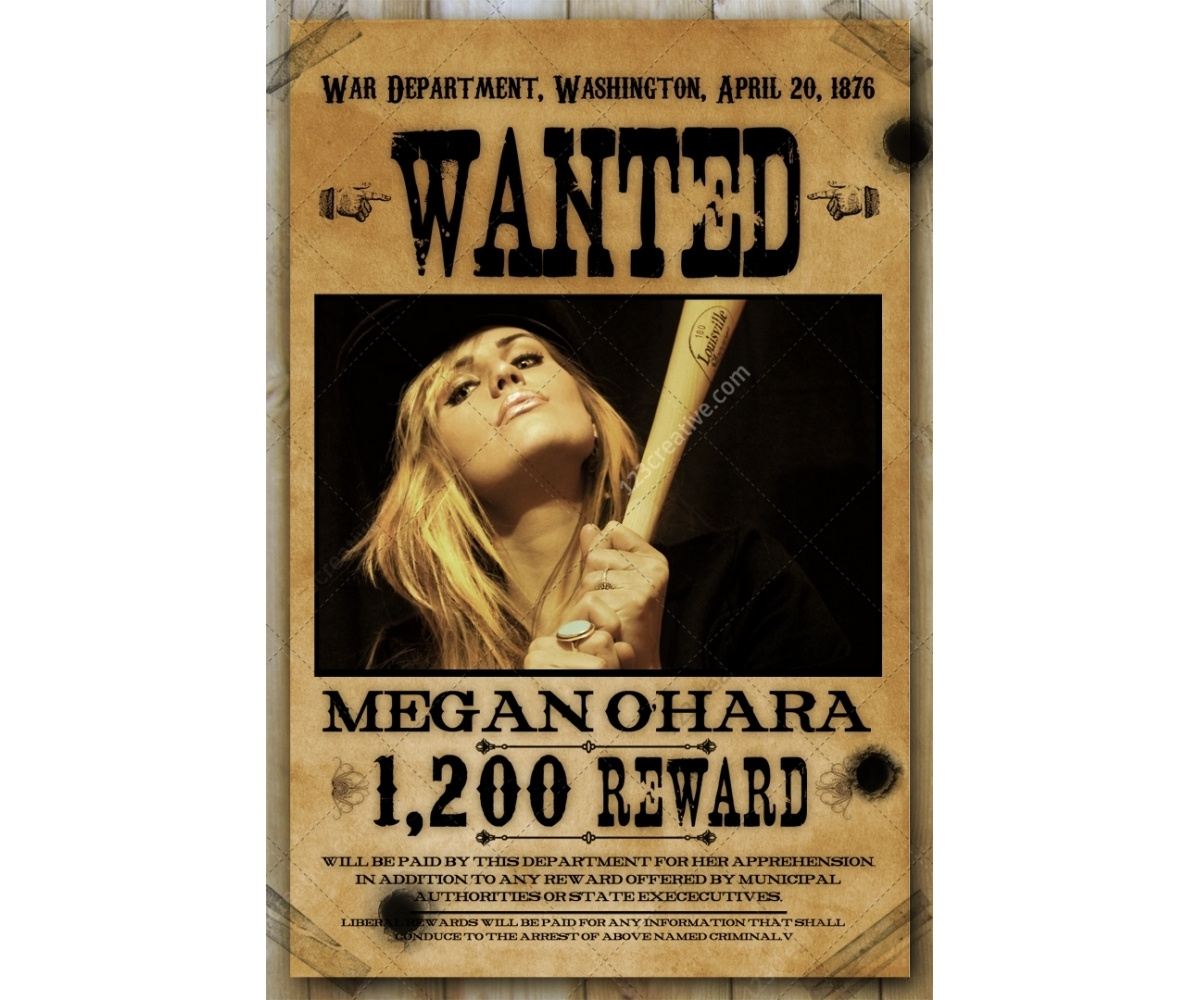 Wanted Poster Template - Buy Woman Wanted Poster, Wild West, Western - Free Printable Wanted Poster Old West