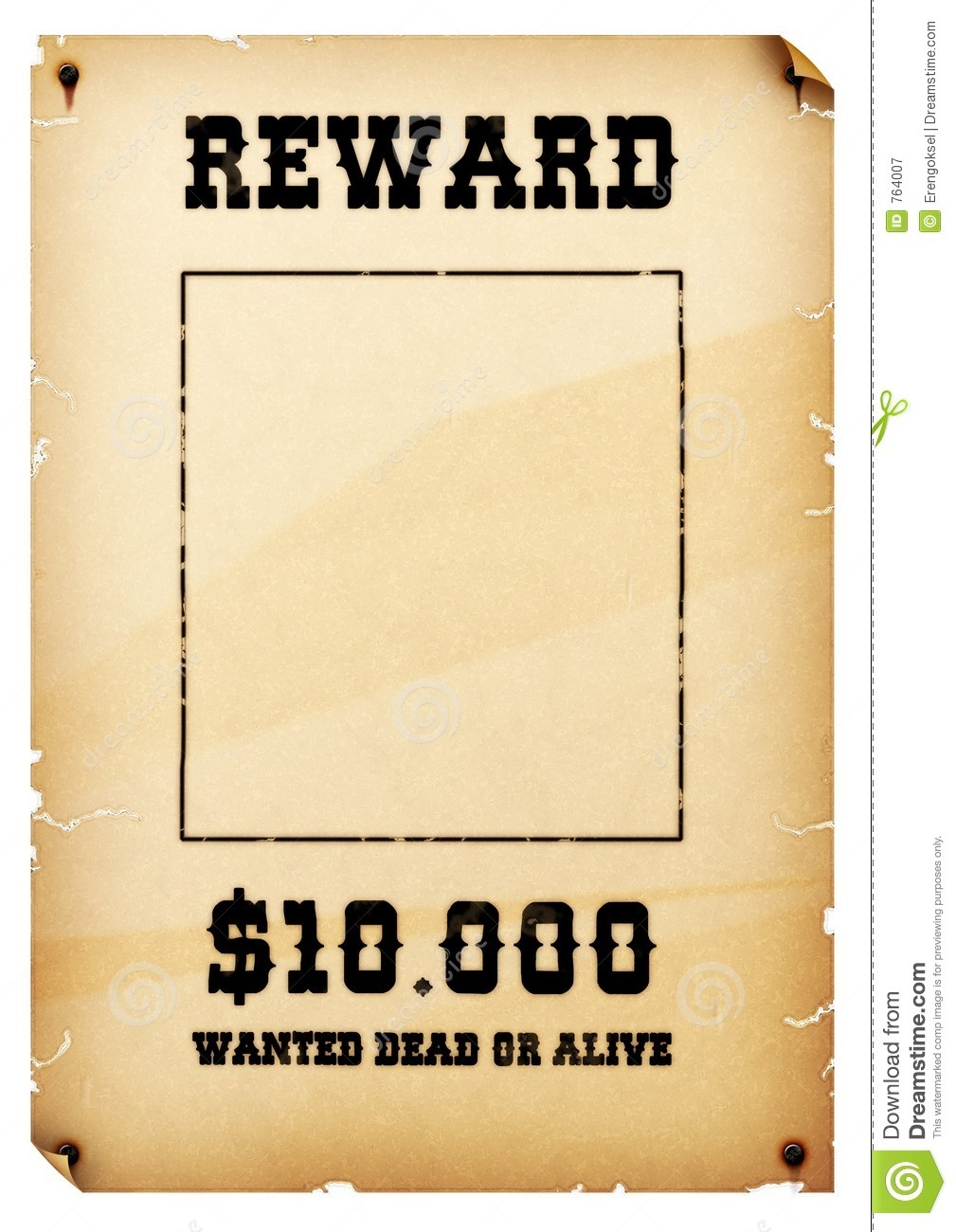 Wanted Reward Template - Tutlin.psstech.co - Wanted Poster Printable Free