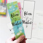 Watercolor Spring Bookmarks Free Printable   Free Printable Spring Bookmarks