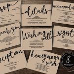 Wedding Insert Cards Pdf Template (Instant Download), Enclosure Card   Free Printable Registry Cards