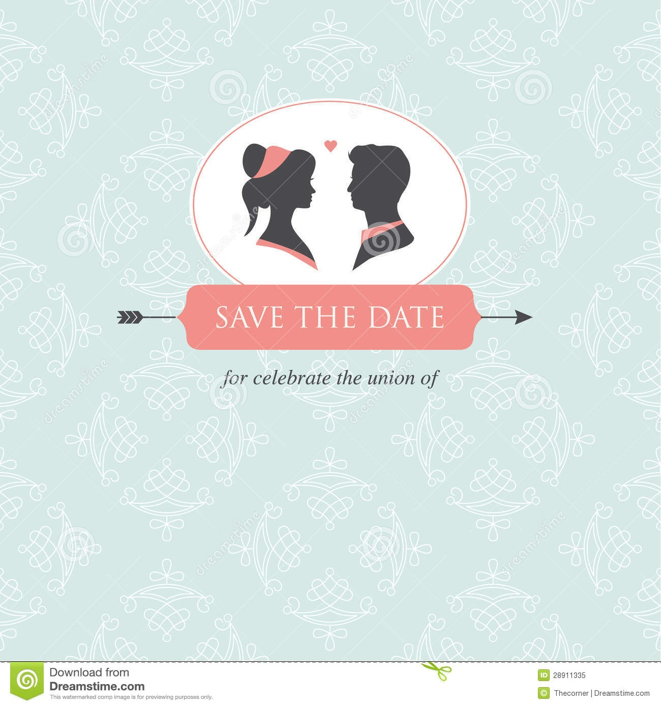 Wedding Invitation Card Template Stock Illustration - Illustration - Wedding Invitation Cards Printable Free
