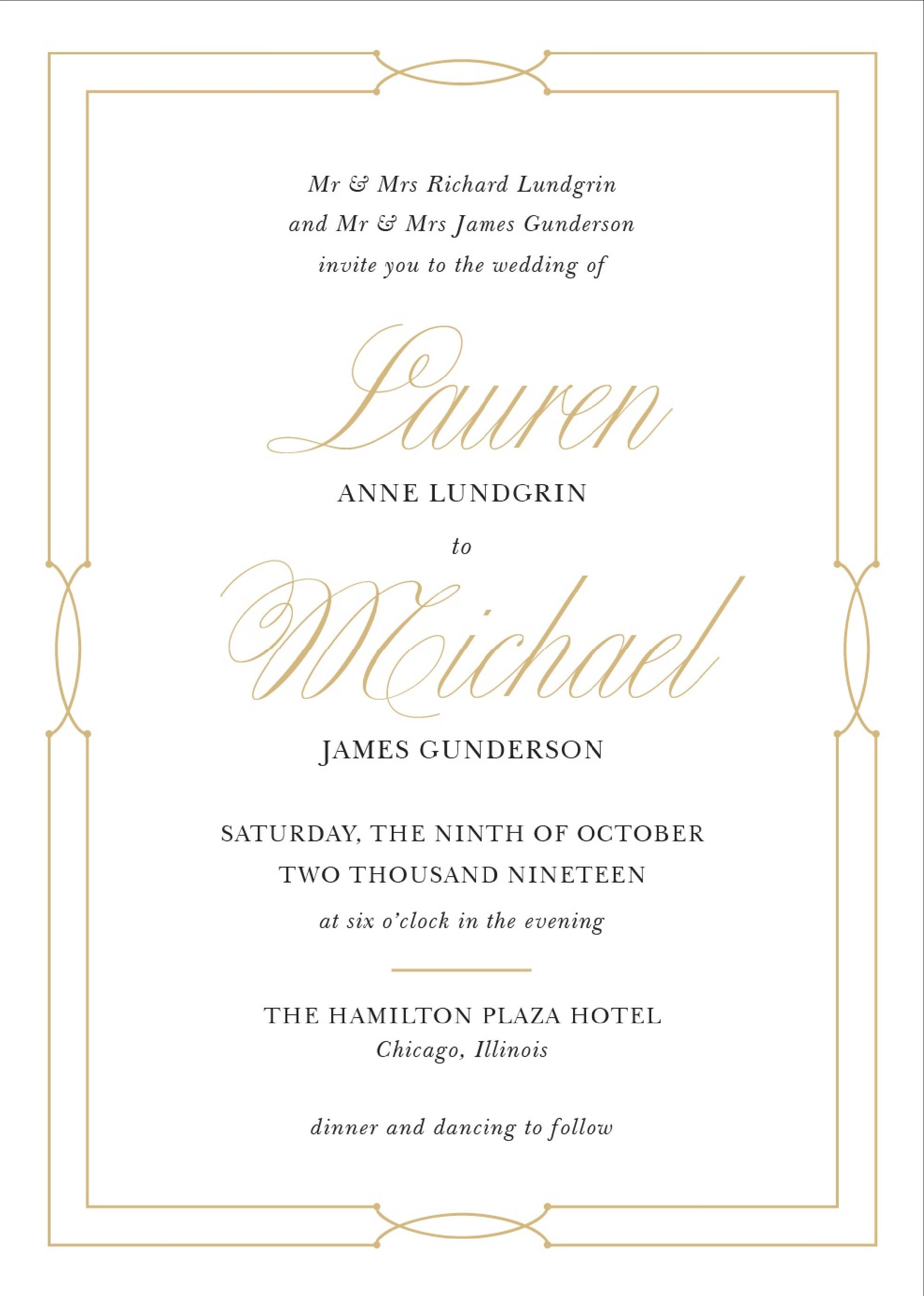 Wedding Invitation Wording Samples - Free Printable Registry Cards