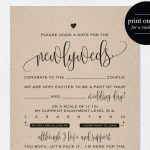 Wedding Mad Libs Mad Lib Printable Wedding Advice Mad Lib | Etsy   Free Printable Wedding Mad Libs