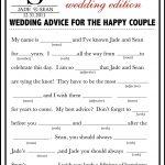 Wedding Mad Libs Template Free | Fun Unique Guest Book Alternative   Free Printable Wedding Mad Libs