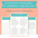 Wedding Planning Checklist | Free Printable Wayfaring Wanderer Boone   Free Printable Wedding Checklist